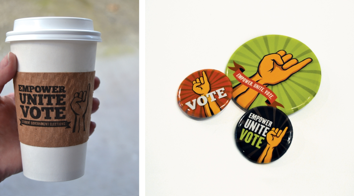 Coffee Cup & Buttons